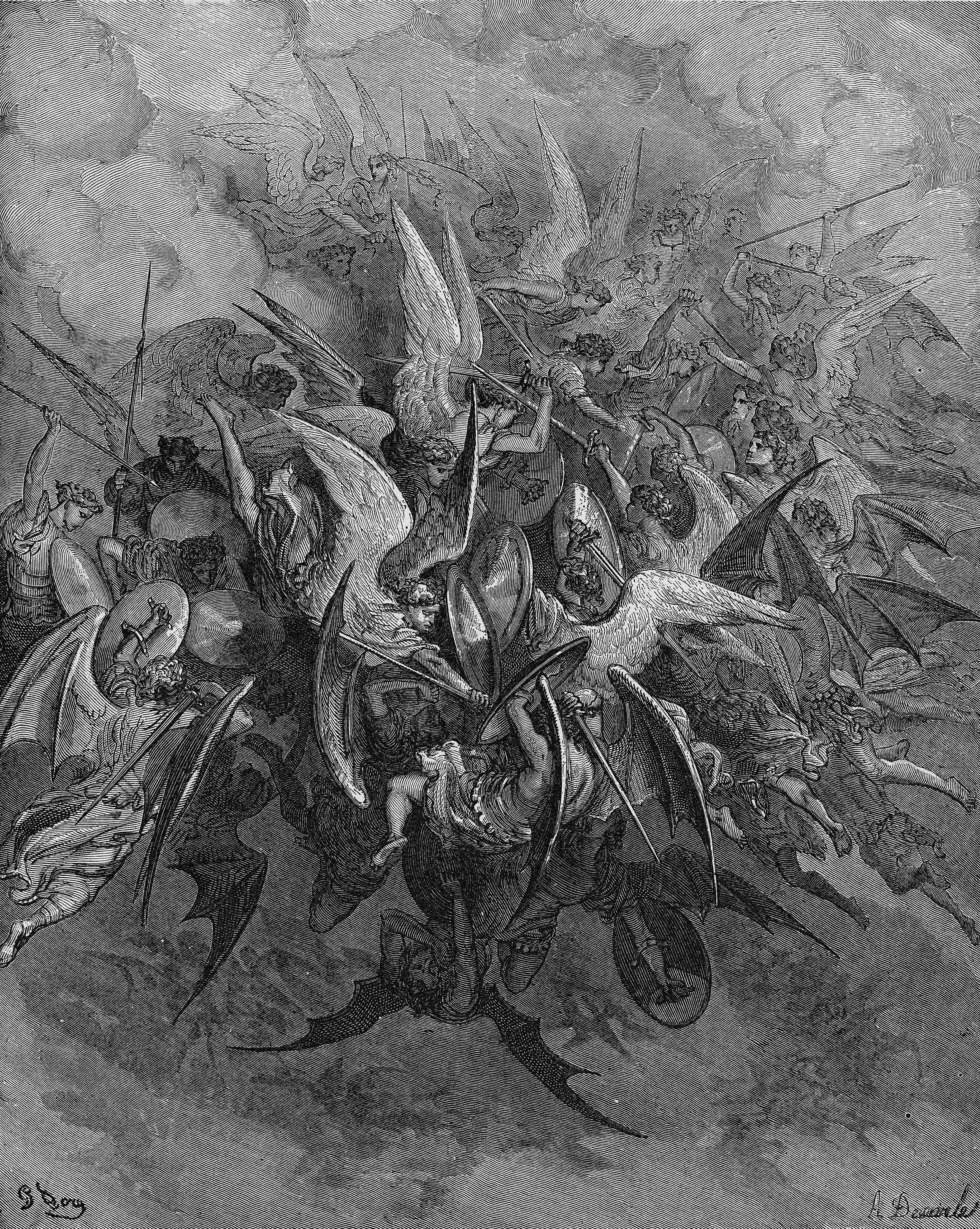 Gustave Doré La Guerre Dans Le Ciel 1868 Le Paradis
