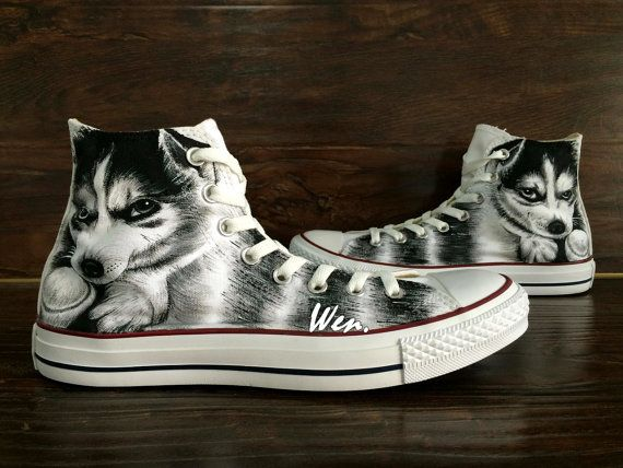 WEN Original Design Alaskan Malamute Dog Husky Dog by WenWenStudio
