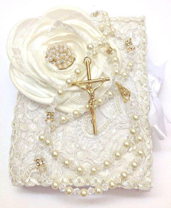 Lace Wedding And Rosary Set Libro Y Rosario
