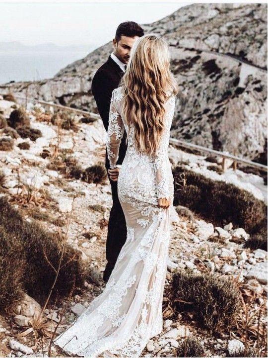Outlet Magnifiques Robes De Mariée Vintage, Robes De Mariée Avec Des Manches, Robes De Mariée Sirène