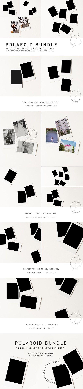 update!] Polaroid Mockup Bundle psd | Polaroid, Free y Textura