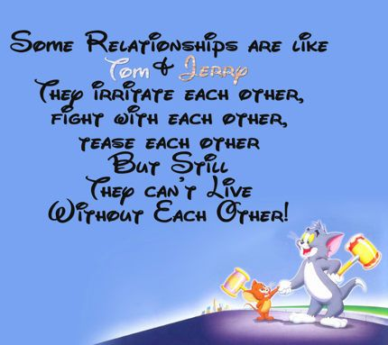 Tom And Jerry Inspirational Quotes Friendship Day Images Happy