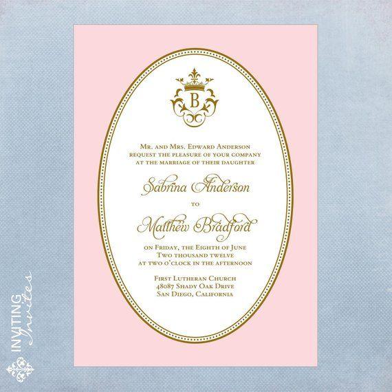 Royal Invitation Example Wedding Ideas