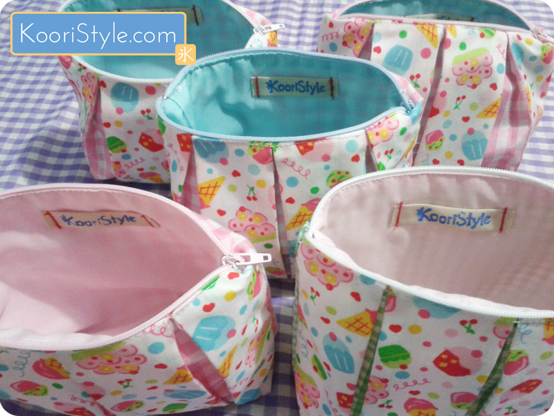 For more info and images of these pouches please click the picture ♥ #KooriStyle #Zippered #Pleated #Pouch #Cute #Pastel #Cupcake #Handmade