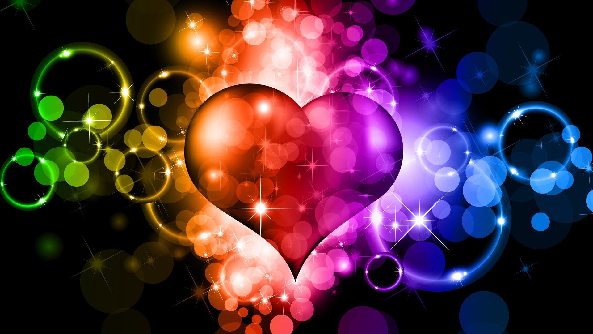 Картинки красивые и яркие сердечки