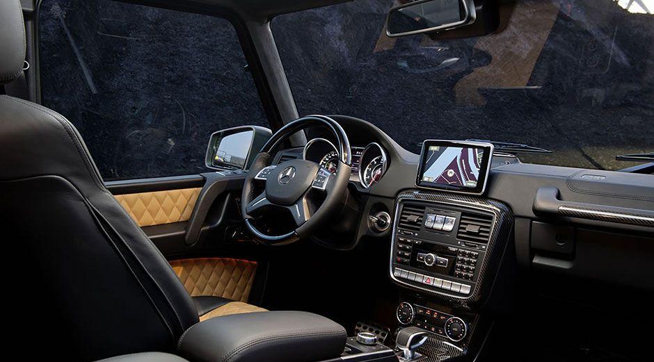 Mercedes Benz G550 In Black Premium Leather With Burl Walnut Wood