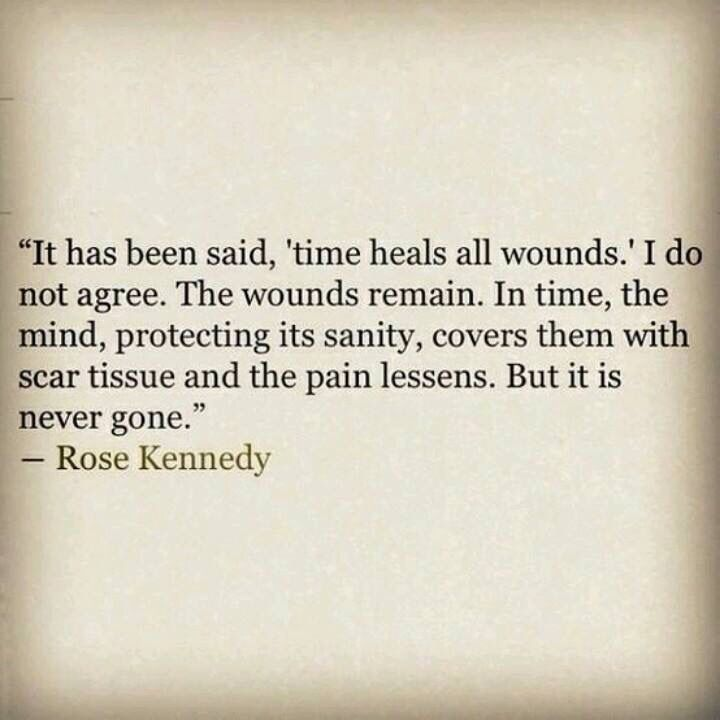 The heart will heal but the wound remains