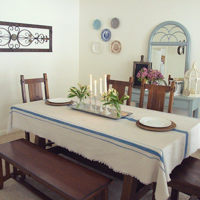 30 diy projects that prove drop cloths are a thrifty girl s best rh pinterest com Dining Room Birthday Hearts and Roses Tablecloth Dining Room