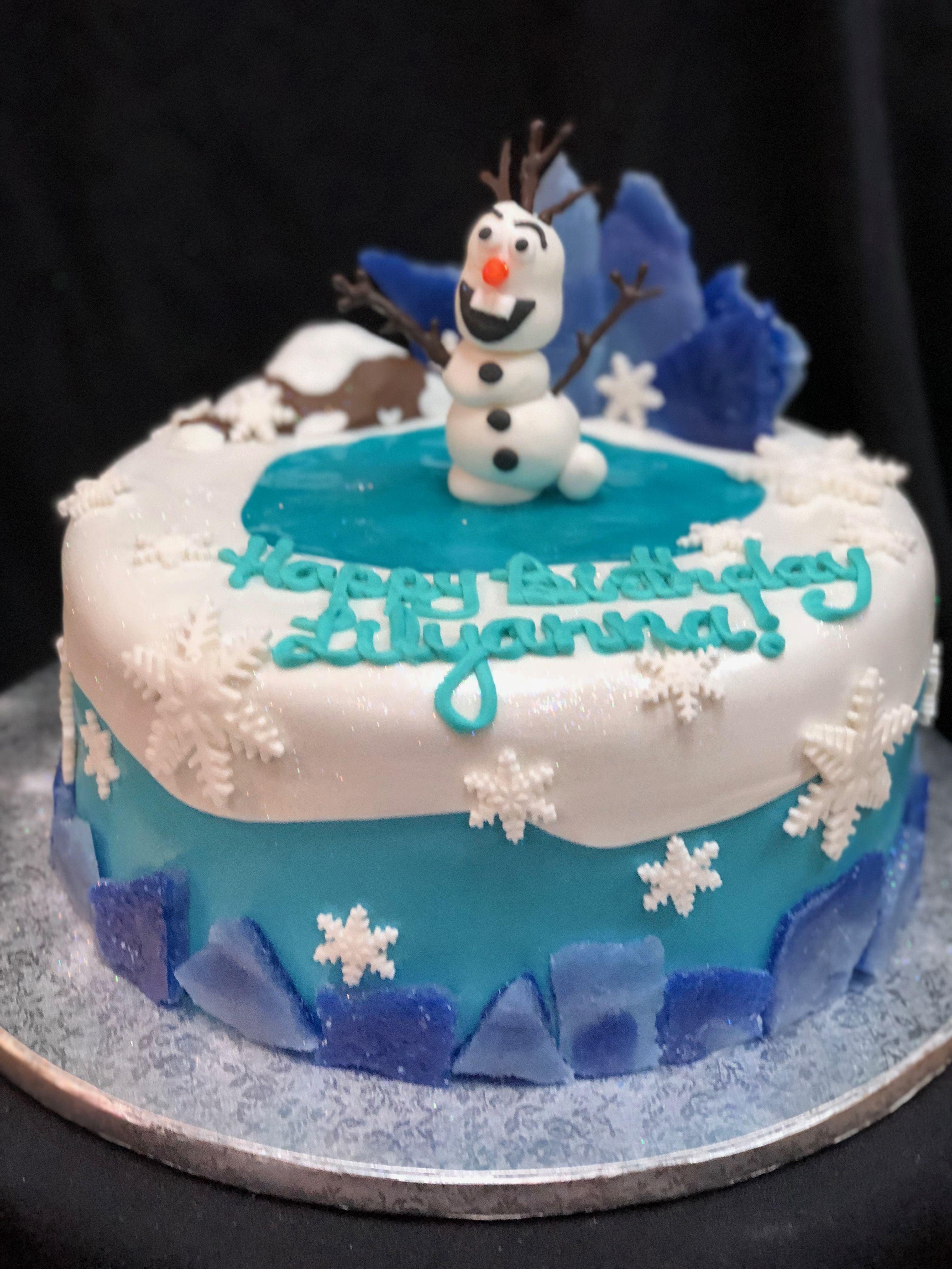 Groovy Olaf Cake Cake Olaf Cake Funny Birthday Cards Online Drosicarndamsfinfo