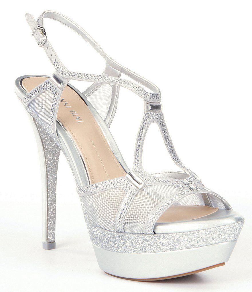 Silver Gianni Bini Elicia Dress Sandals