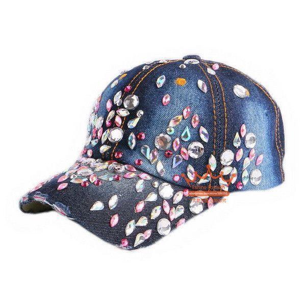 ... adidas Superlite Cap  look out for 501ea c8f51 Beauty caps new design  popular women rhinestone star denim baseball cap ... 19d1f7e26