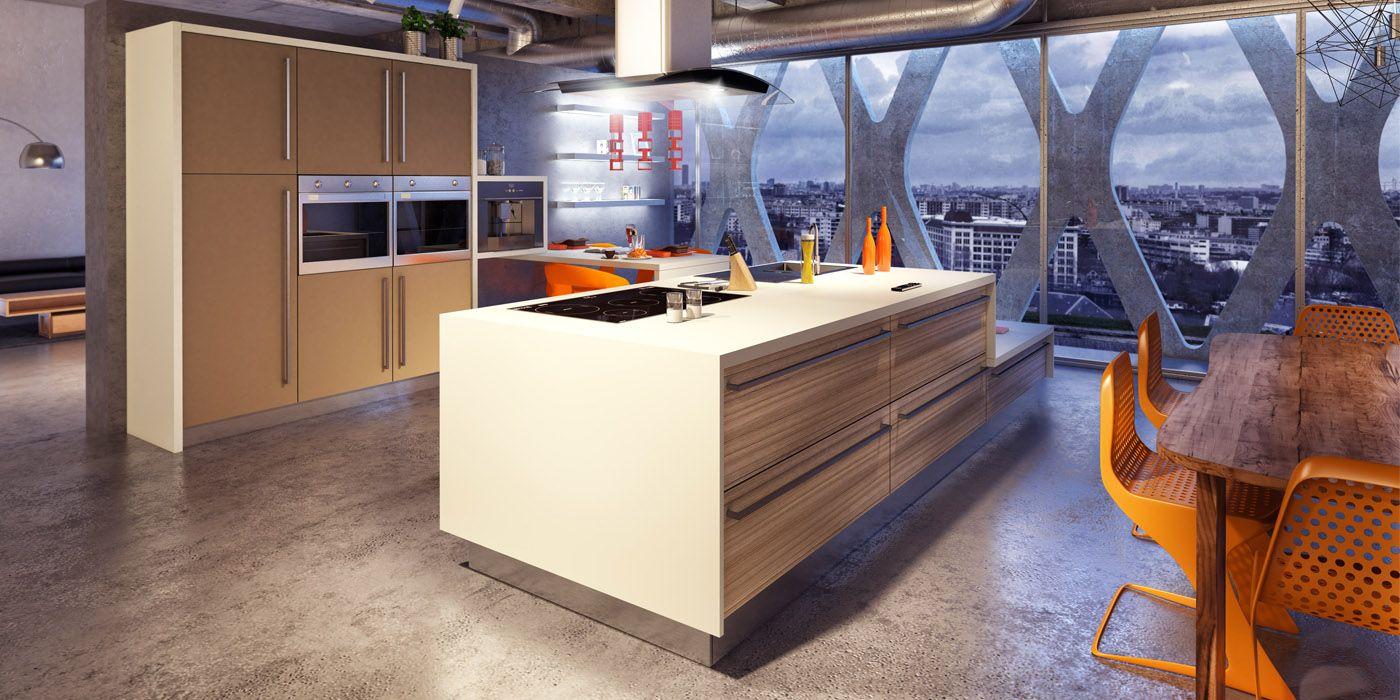 Cuisine style loft avec il t cuisines charles rema for Modele cuisine ouverte avec ilot