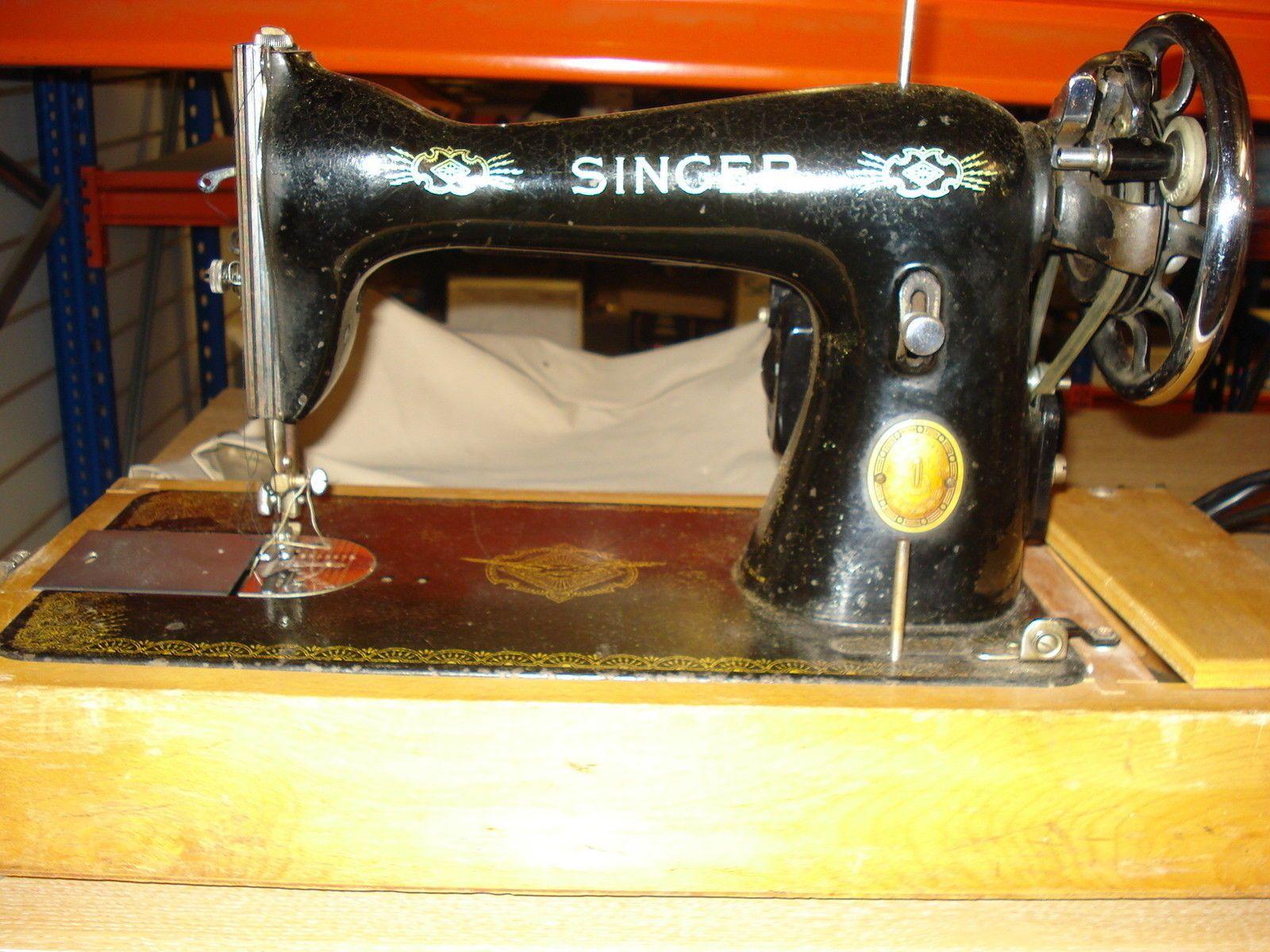 Vintage 1930's SINGER 15K / 15-91 ELECTRIC SEWING MACHINE - Needs Attention | eBay