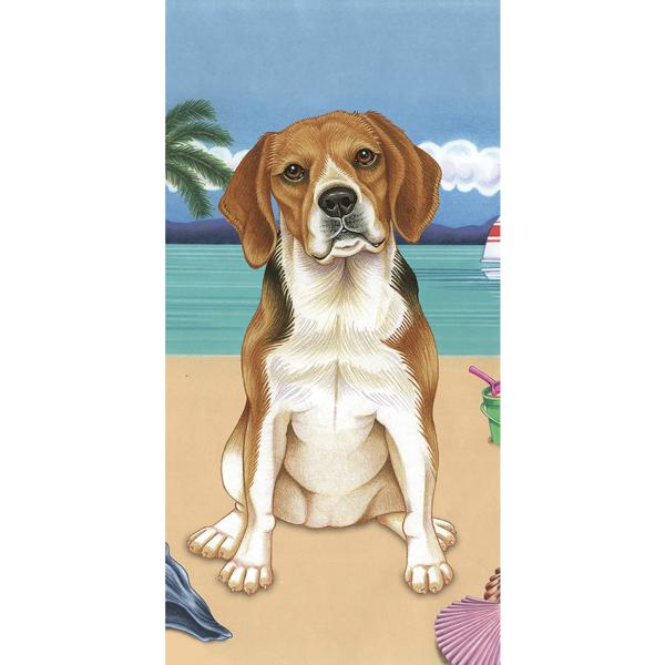 Summer Beagle Beach Towel Beagle Art Paw Art Dachshund Pictures