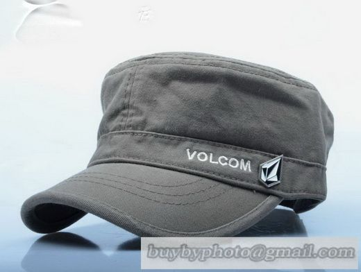 d47cb7d26bc Volcom Military Cap Flat-Topped Cap Diamond Washed Cotton Outdoor Spring  Summer Sun Hat Cap Gray