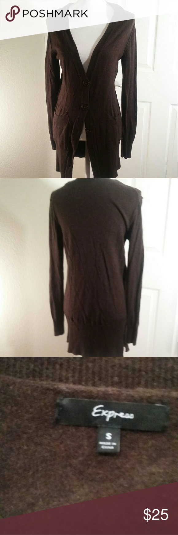 Long Cardigan Express Sweater ,Brown This is a long Cardigan ...