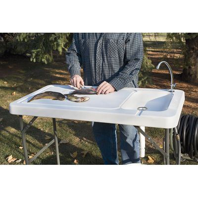 Portable Camp Fish Cleaning Table with Faucet, got this for Scott ...