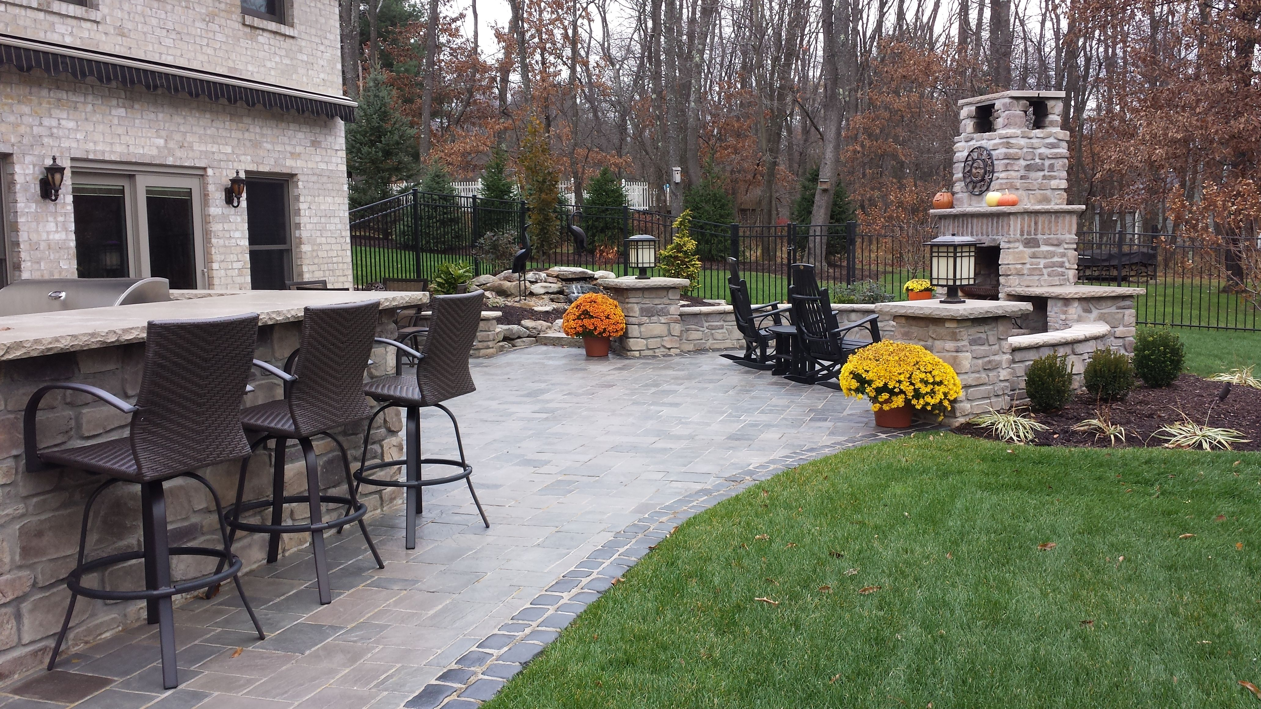 Complete outdoor living space, including fireplace, bar ... on Complete Outdoor Living id=80583