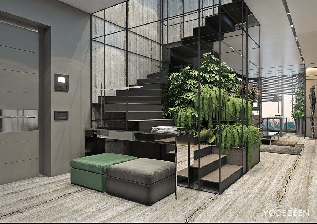 Luxurious apartment redefines the term urban jungle