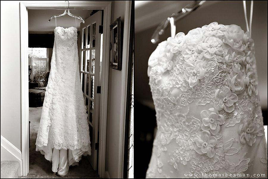 Camp Hill Wedding Dress Hanging From Peter Allen House