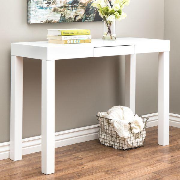 Lachlan Glossy White Sofa Table White sofa table White sofas