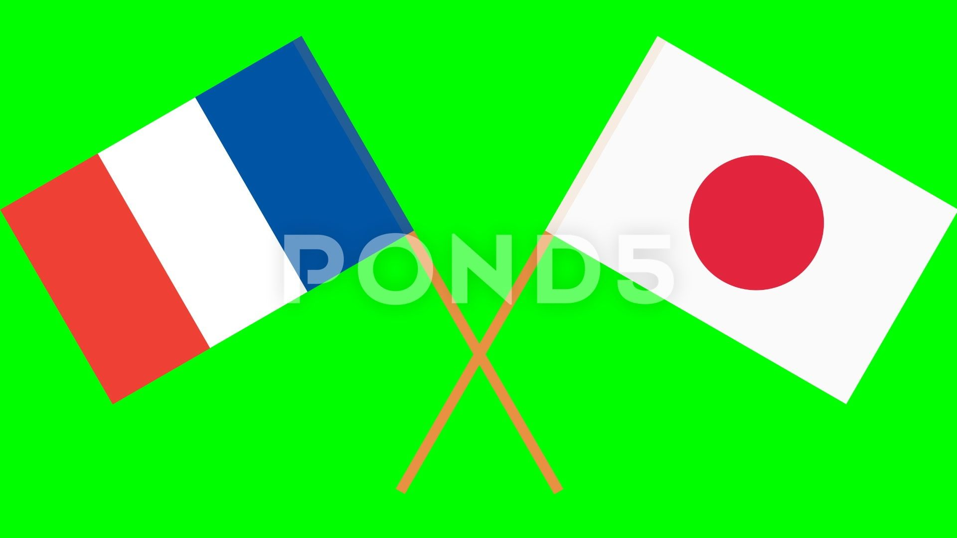 Crossed Flags Of Japan And France In Front Of A Green Screen Chroma Key Stock Footage Ad France Front Japan Crossed Chroma Key Cross Flag Greenscreen