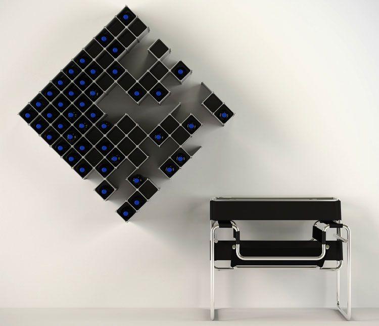 Moderno Portabottiglie Vino Da Parete Design.95 Portabottiglie Di Vino Da Parete Per Tutti I Gusti