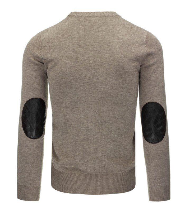 c98bcb8d31b0 Pánske béžový sveter na gombíky