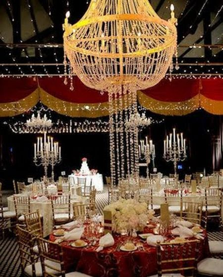 Celebrity Wedding Reception Decor: Put On The Ritz With An Old Hollywood Glamour Wedding