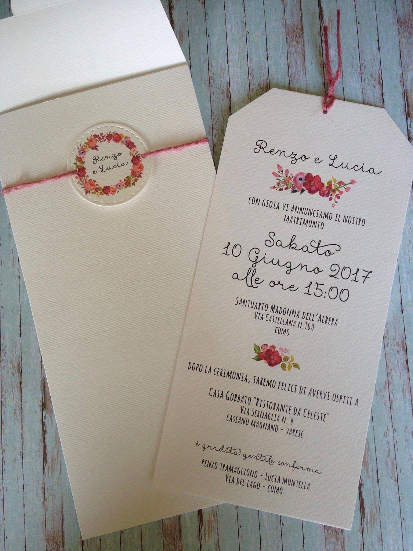 Partecipazioni Matrimonio Varese.10 Partecipazioni Boho Chic Modello Geltrude Wedding Invitation