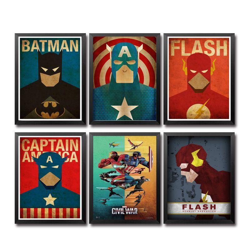 Günstige Comics Marvel Avengers Super Heroes Movie Poster Kunst