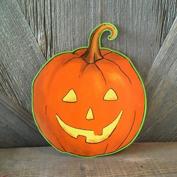 Vintage Halloween Pumpkin Decoration Large Jack-o-lantern Pumpkin