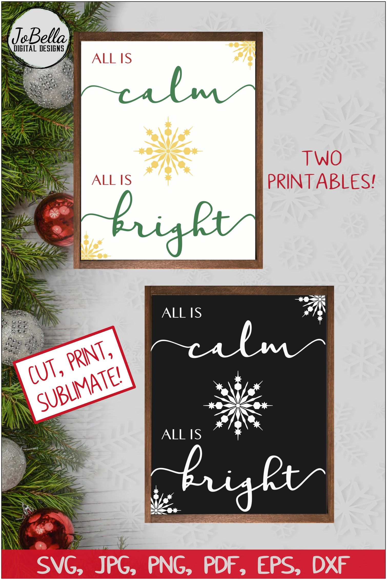 All Is Calm All Is Bright Christmas Svg And Printables With Images Christmas Svg Christmas Svg Design Christmas Svg Files