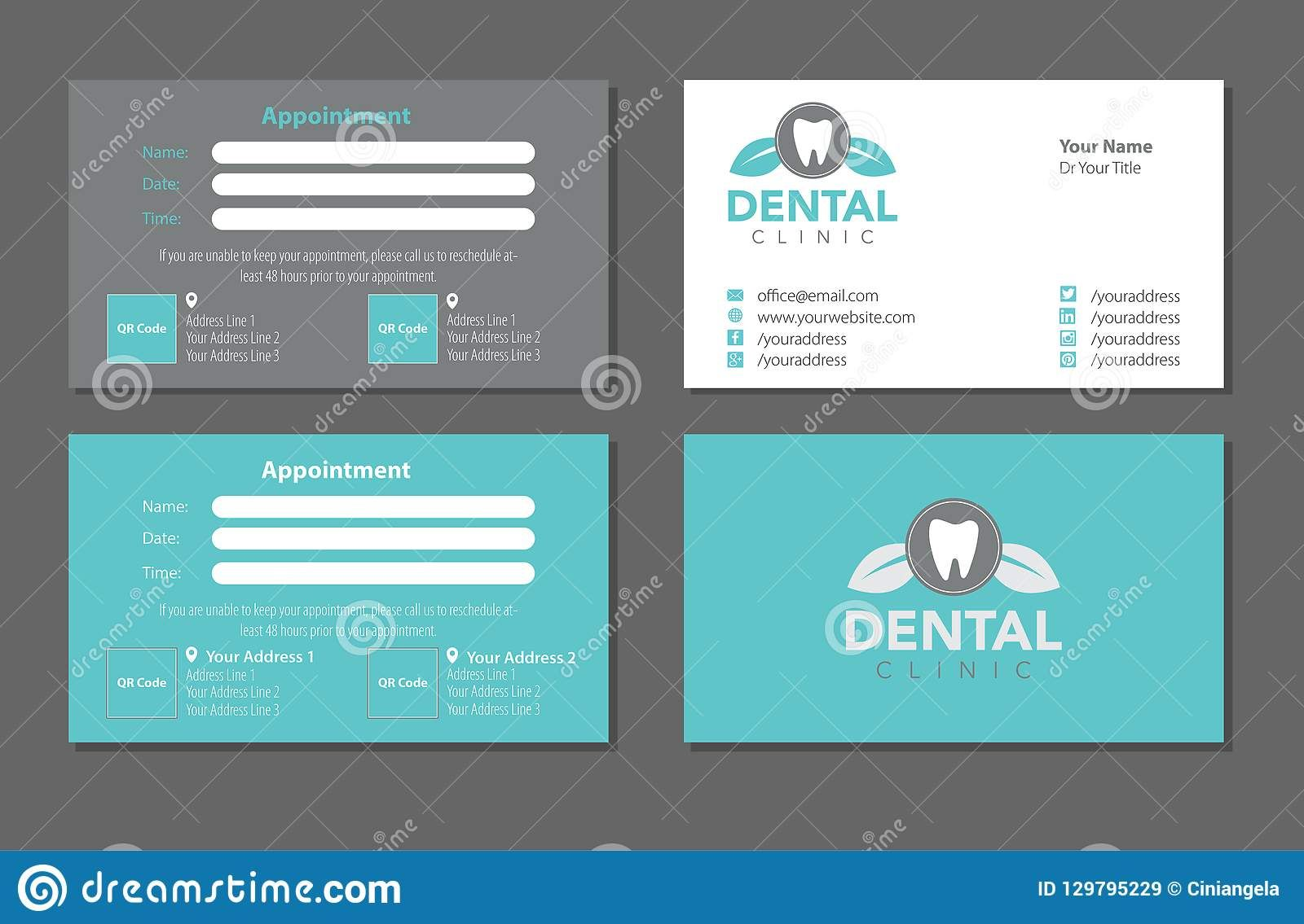 Dentist Business Card Template Set Editorial Stock Image Within Dentist Appointment Card Te Business Card Template Transparent Business Cards Appointment Cards