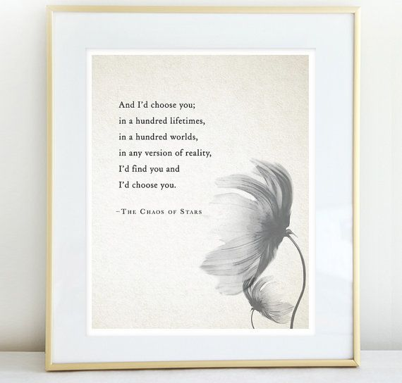 Love Quote The Chaos of Stars Poetry Print door Riverwaystudios