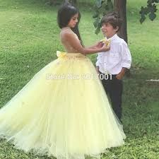 Image result for popular yellow flower girl dress