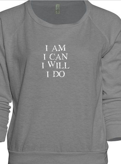 Slouchy alternative apparel layering top- with your favorite 8 words hand screen-printed on the front. on Etsy, € 38,20