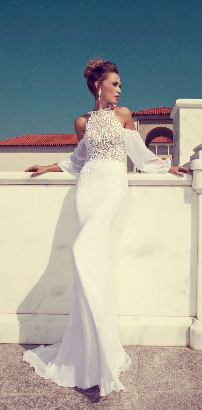 julie vino 2014 halter neck wedding dress long sleeves - Julie Vino 95bb377c229