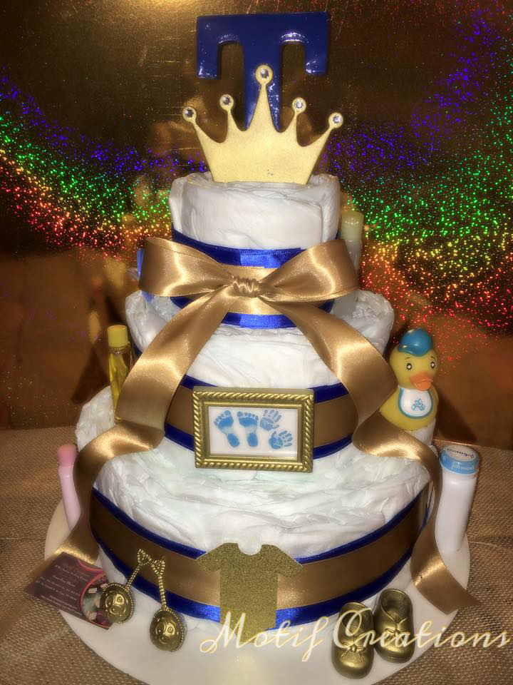 Royal King Diaper Cake By Motif Creations Diaper Cakes