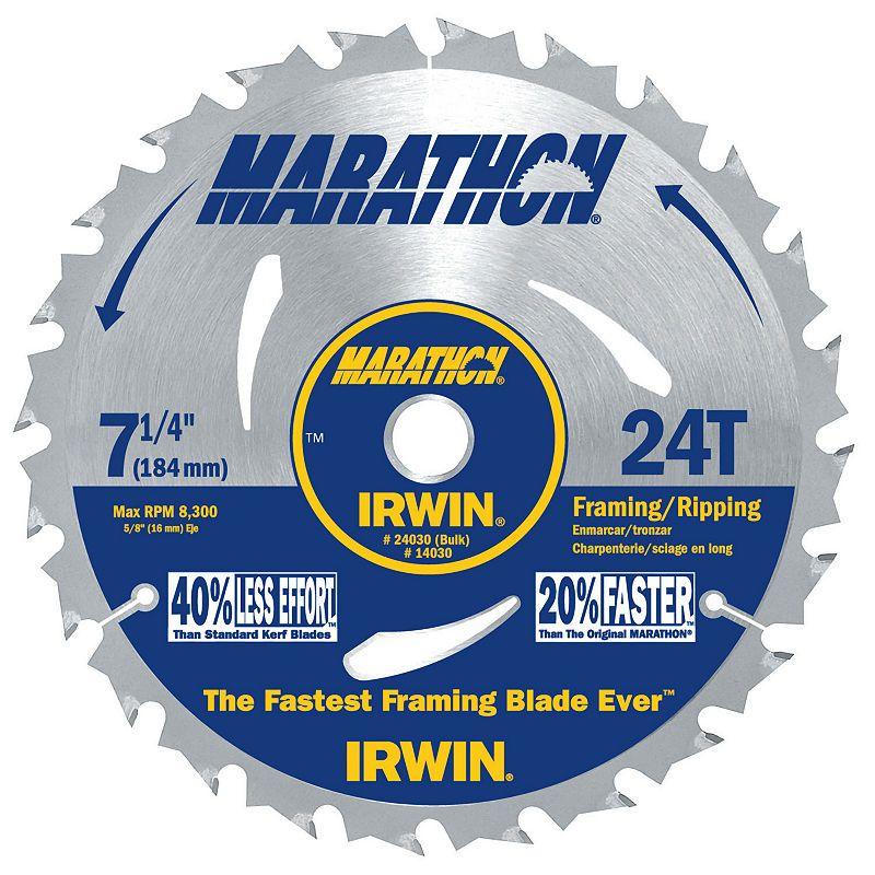 Irwin Marathon 24030 7 1 4in 24t Marathon Portablecorded Circular Saw Blades Circular Saw Blades Saw Blade Circular Saw