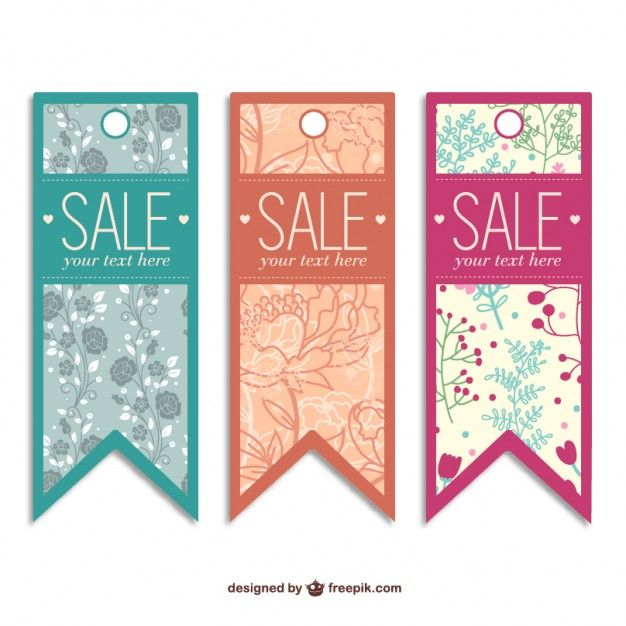 Sale Tags Templates Free Vector Free Vectors Pinterest - for sale template free