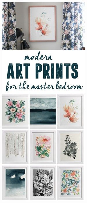 Choosing Modern Art for the Bedroom is part of Master bedroom Art - Choosing Modern Art for the Bedroom, Modern Art Prints for a Master Bedroom, Minted Art Print Selections, Art in the Master Bedroom, Modern Floral Art