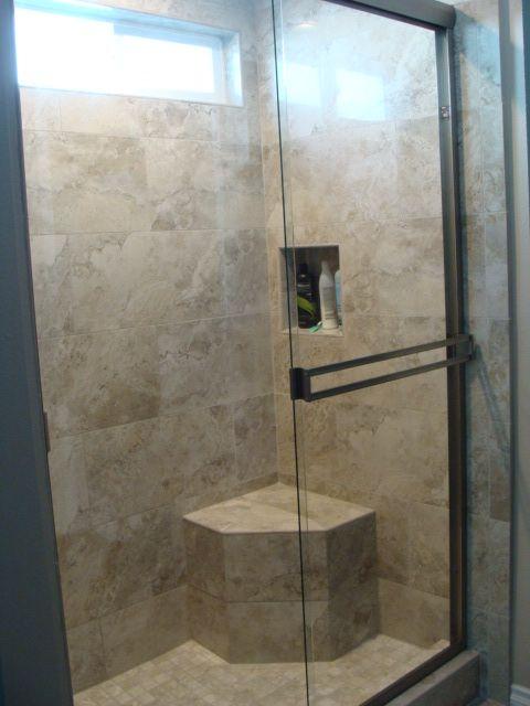 Master Bathroom Shower Tarsus Grey Porcelain From Floor