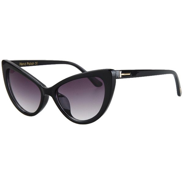 c49806e62e48 Letter T Shape Inlay Sunglasses ( 99) ❤ liked on Polyvore featuring  accessories