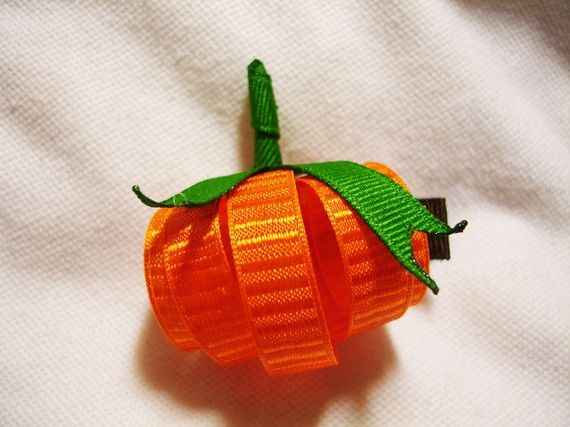 Boutique Halloween Harvest Pumpkin Clippie by TheSVCollection, $3.49
