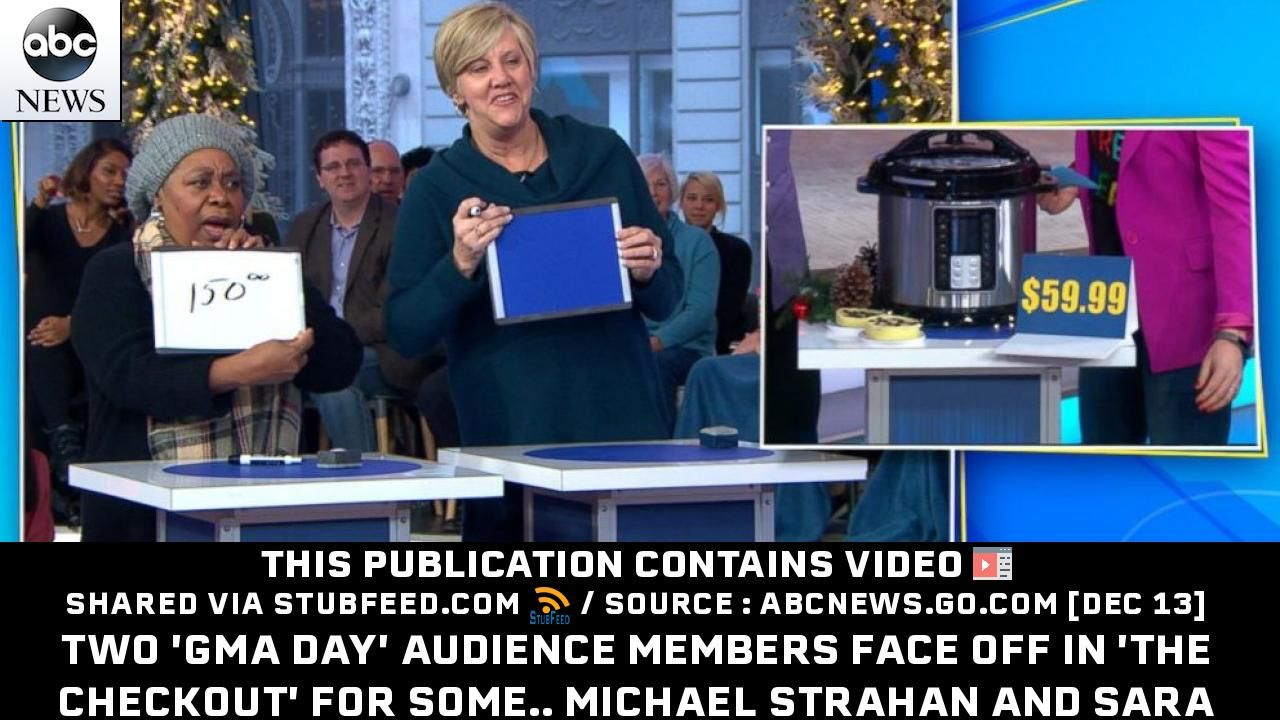 Two Gma Day Audience Members Face Off In Publication From