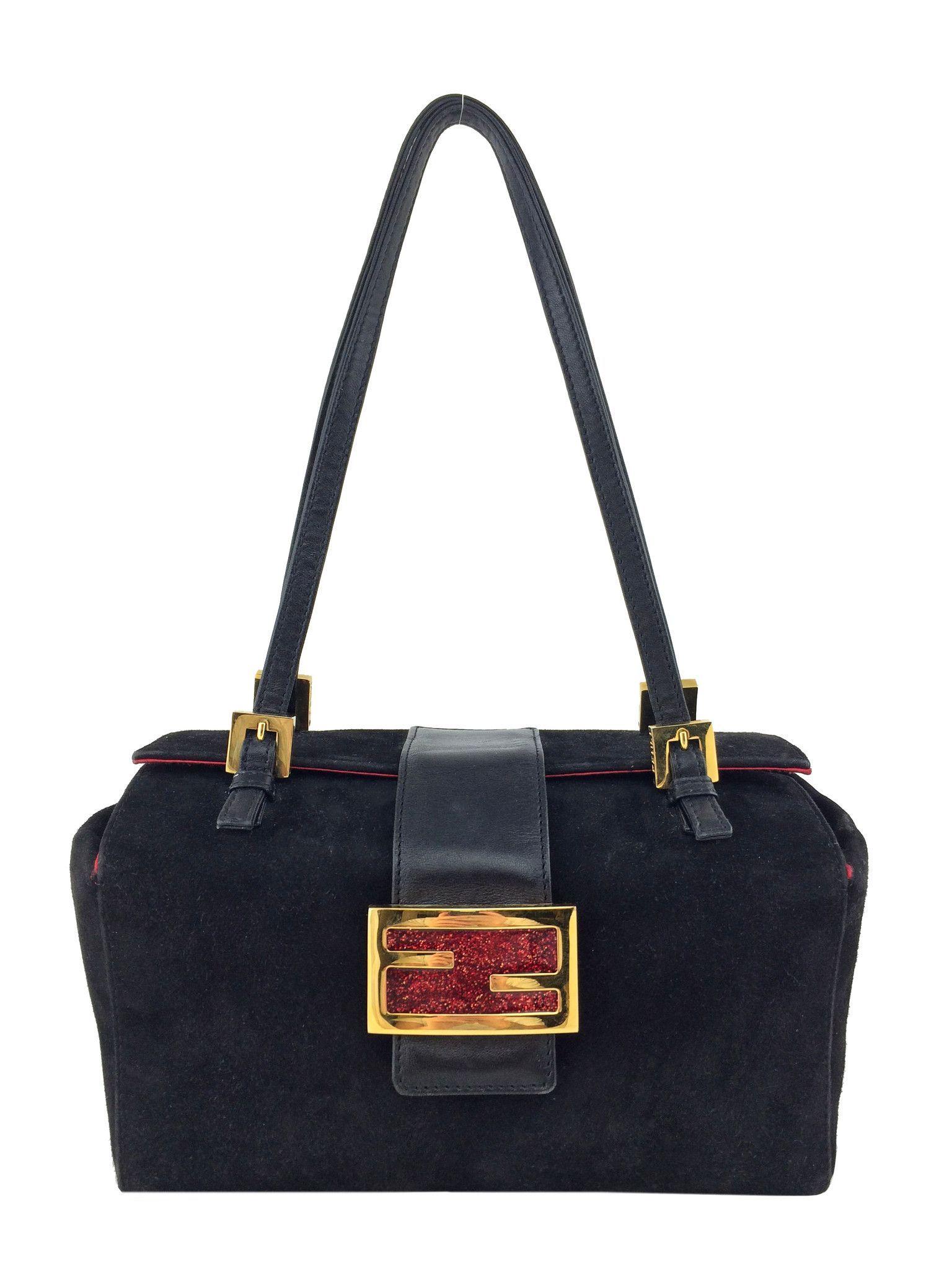 75c4f5f668 Fendi Suede Baguette Bag