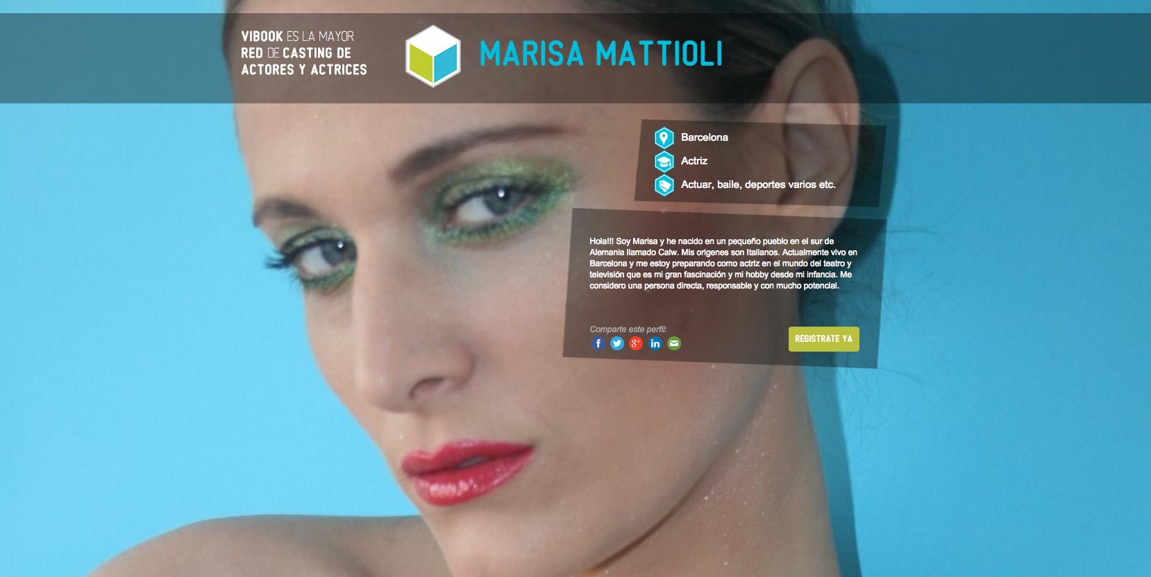 Actriz MARISA MATTIOLI
