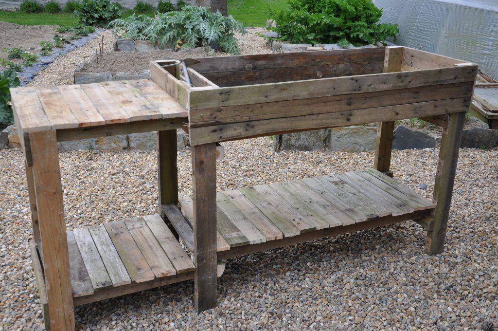 meuble de jardinage en bois de r cup palettes tout fait maison entretien de la maison. Black Bedroom Furniture Sets. Home Design Ideas