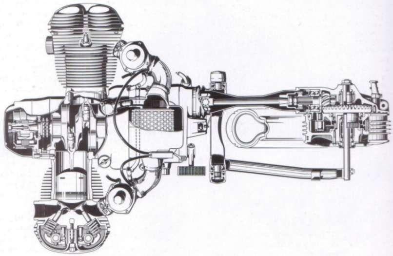 Bmw Airhead Twin Cutaway Drawing With Images Bike Bmw Bmw